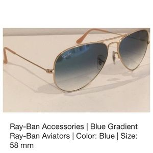 Ray-Ban rb 3025 Gradient Blue and Gold